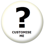 Plain Colour Custom Colour 25mm Pin Button Badge
